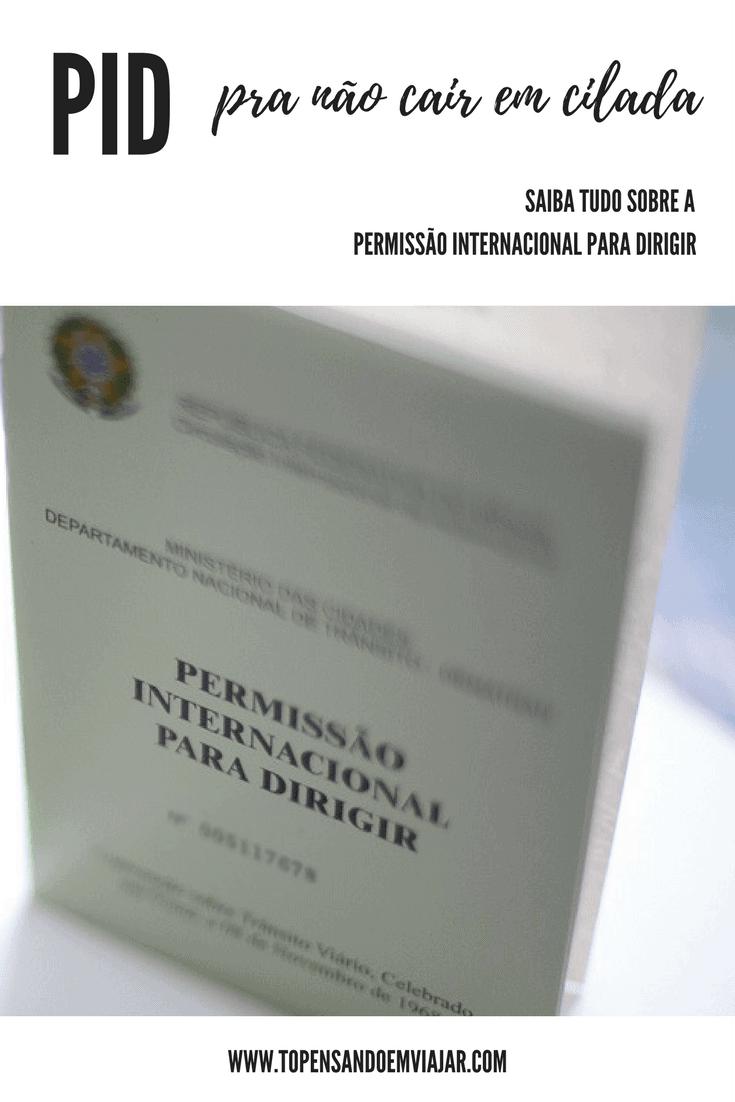Como tirar a PID - Permissão Internacional para Dirigir