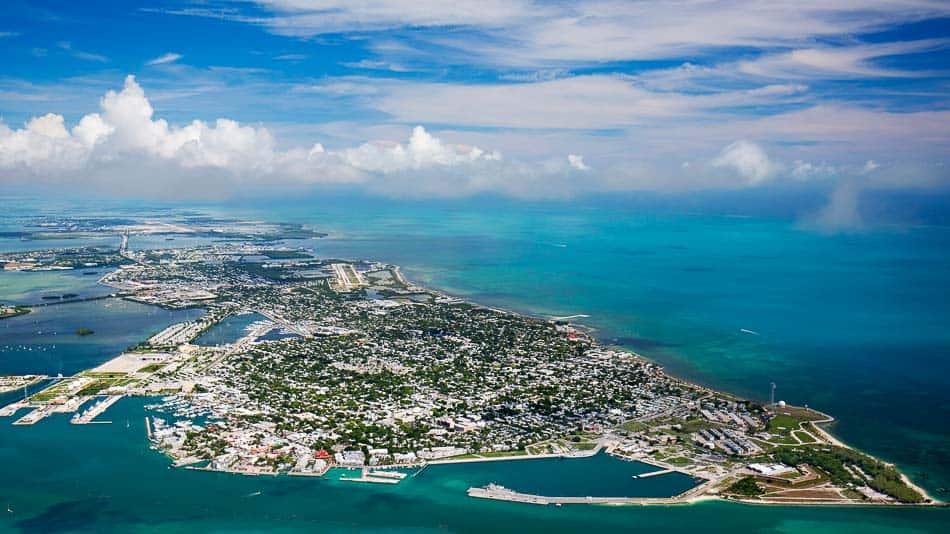 Vista aérea de Key West na Flórida