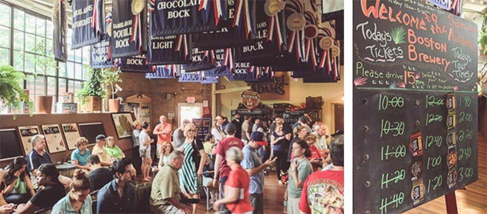 Horário dos tours da cervejaria Samuel Adams em Boston