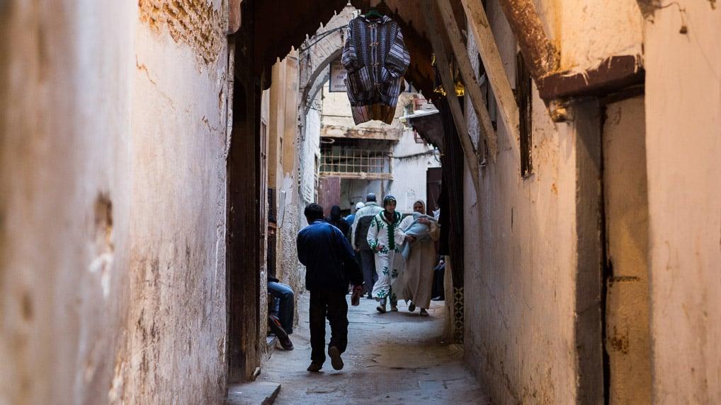 rua, Medina, Fès, Marrocos