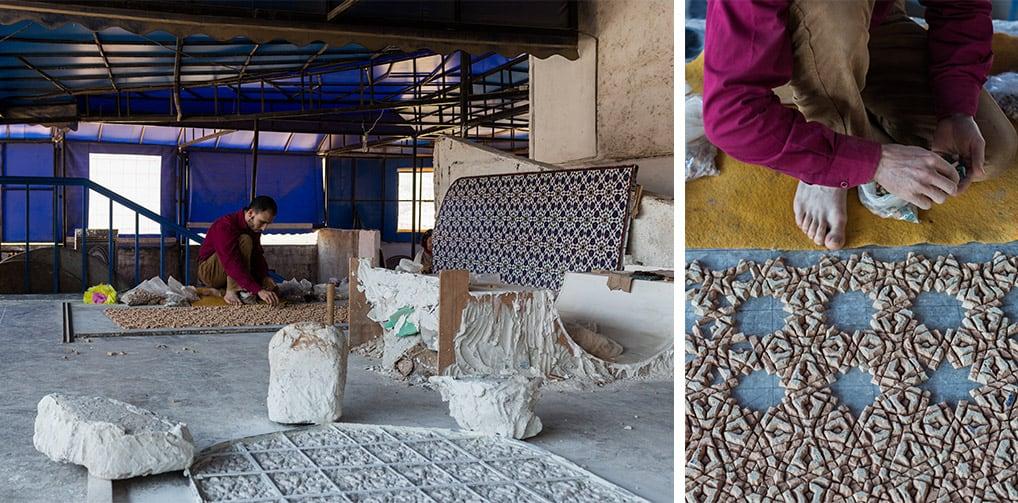 Mosaicos em Fès, no Marrocos