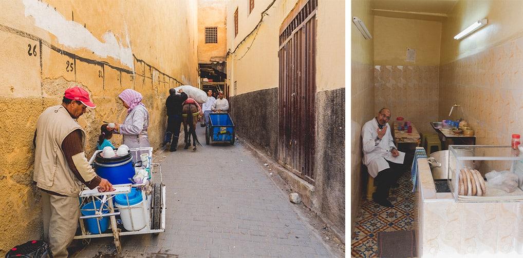Cotidiano na medina de Fès, no Marrocos
