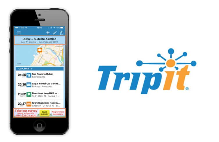 aplicativo tripit