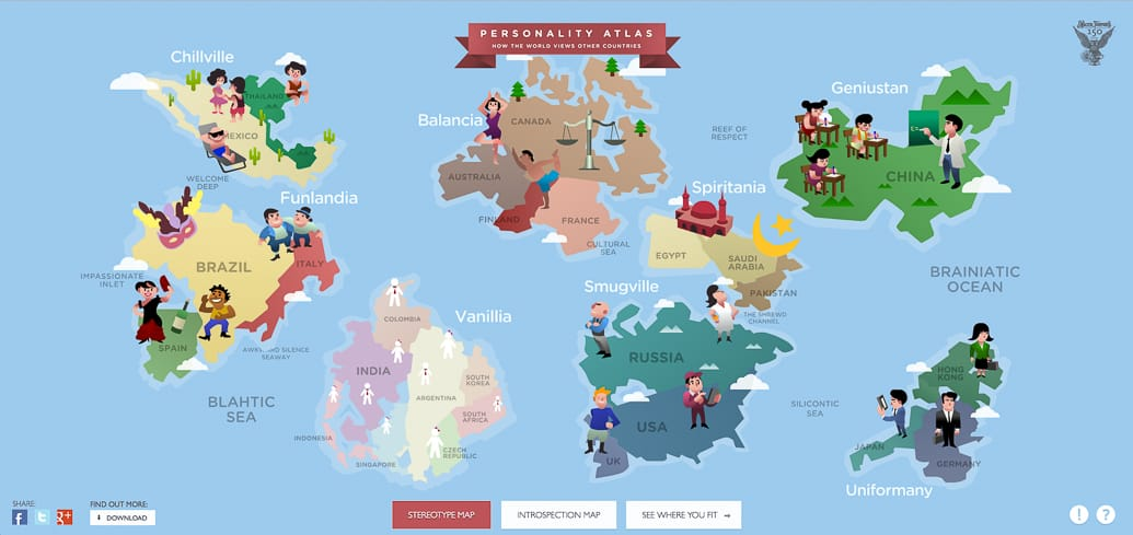mapa diferente