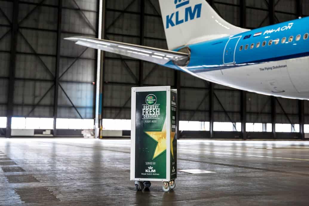 KLM vai servir chopp
