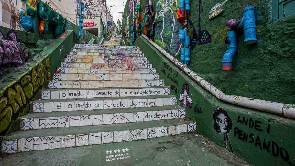 Escadaria do Patápio, perto do Beco do Batman em SP