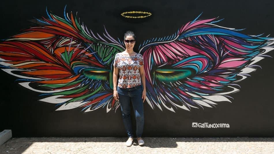 As asas de anjo do Beco do Batman, na Vila Madalena