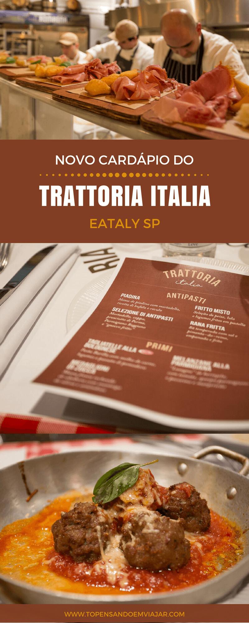 Trattoria Italia no Eataly Brasil