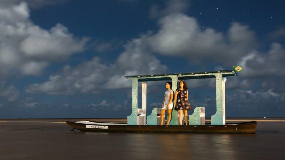Noite estralada no litoral norte de Alagoas