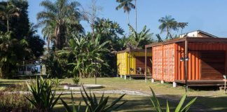 Vila Jacaa, pousada em contêineres em Ubatuba, SP