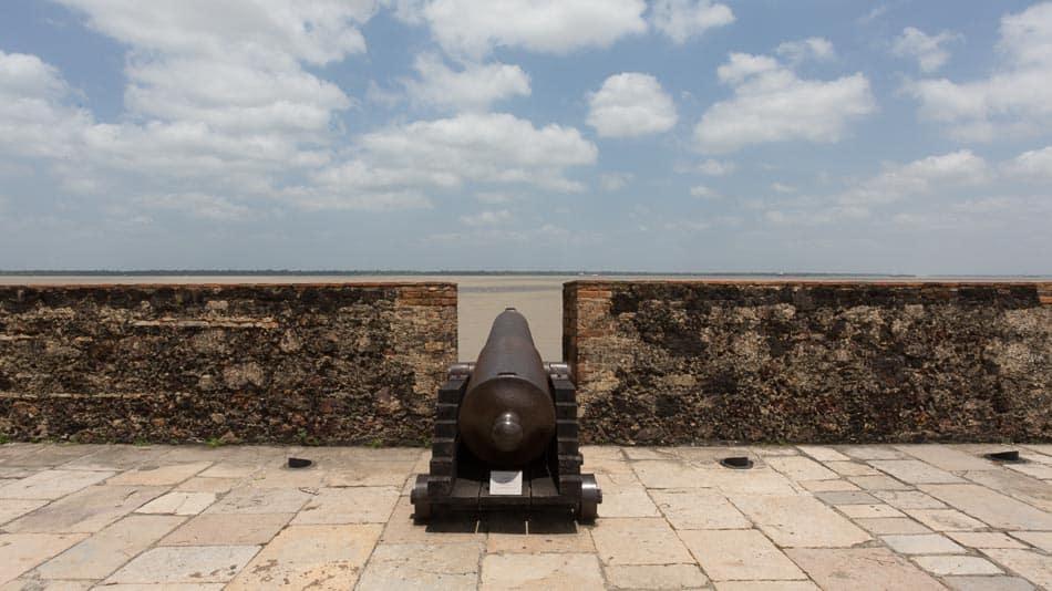 Canhão no Forte do Presépio em Belém do Pará