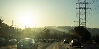 O trânsito de Los Angeles, na Califórnia