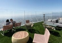 Varanda do OUE Skyspace em Los Angeles