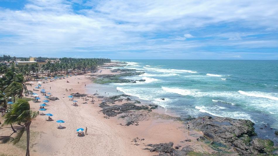 Praia de Itapuã, em Salvador, Bahia