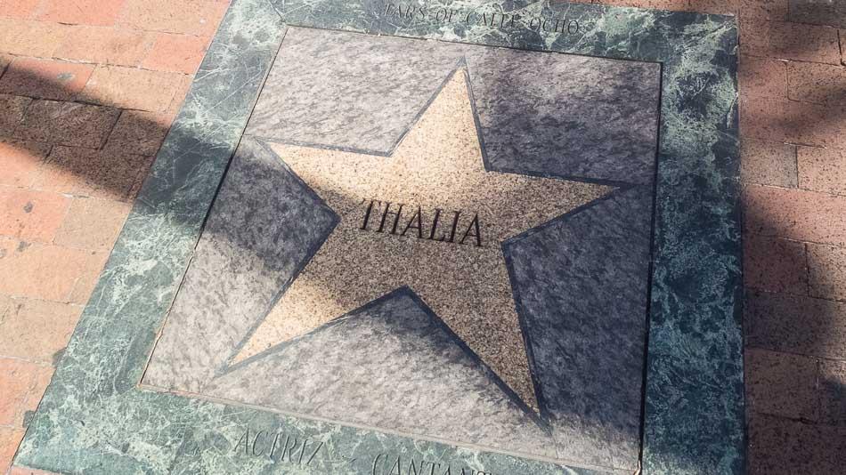 Calçada da fama em Little Havana, Miami