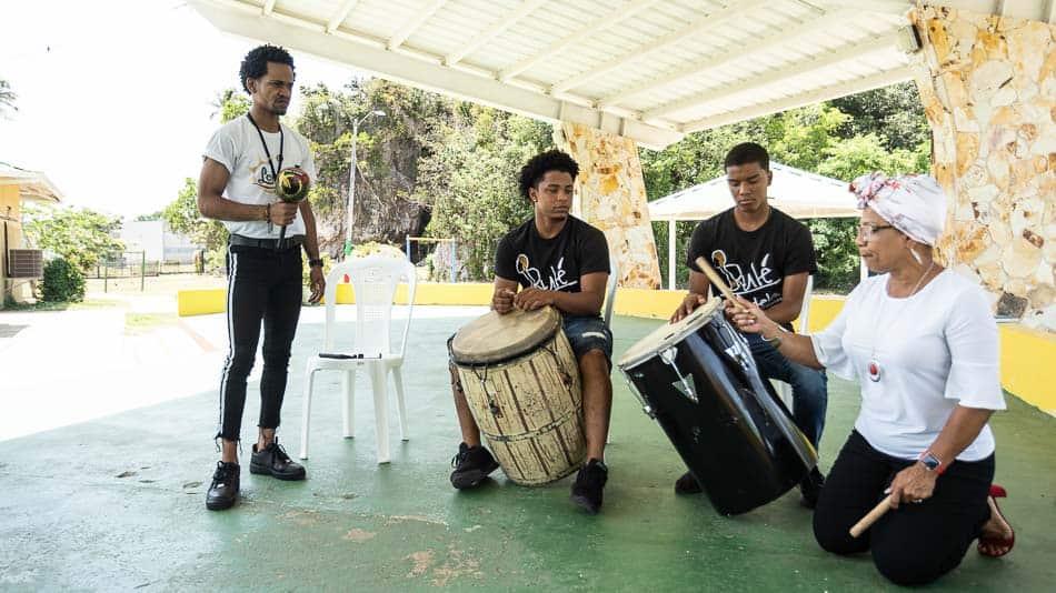 Instrumentos de Bomba, ritmo de Porto Rico