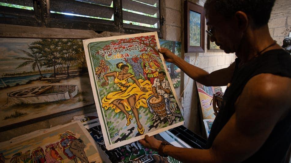 Samuel Lind e sua obra, em Loíza, Porto Rico