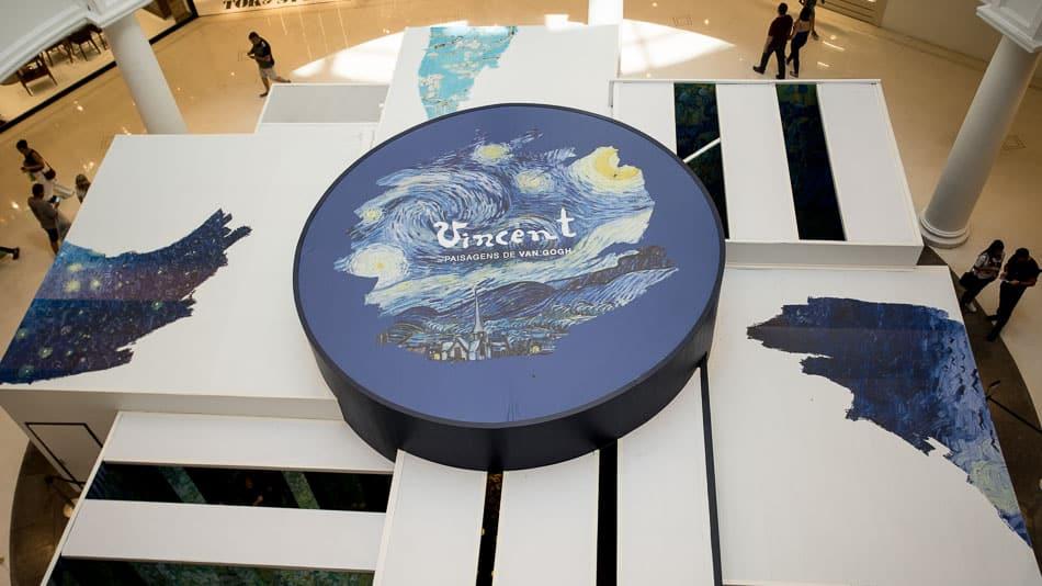 Exposição imersiva Van Gogh no Shopping Higienópolis em SP