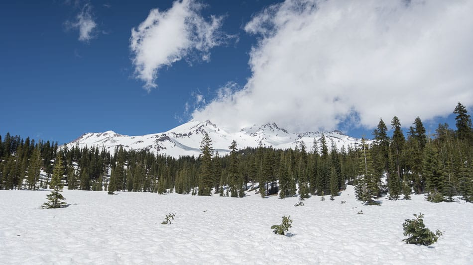 Neve no Mt. Shasta, na Califórnia