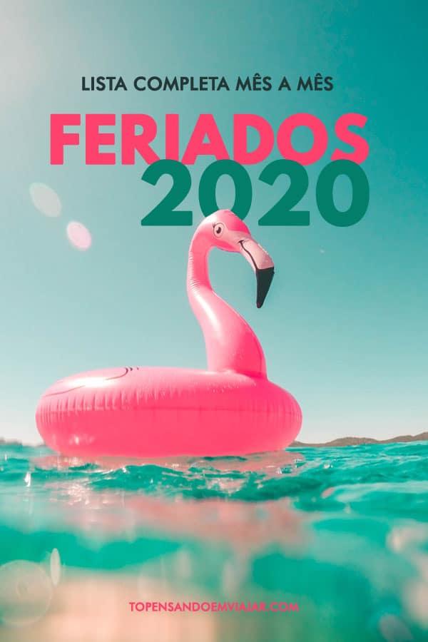 Confira o calendário com feriados 2020 com as datas de todos os feriados de 2020 no Brasil e o dia da semana em que eles caem. Aproveite!