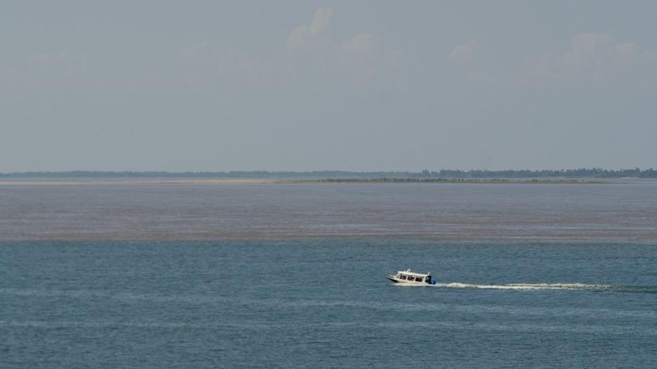 Encontro das águas em Santarém, no Pará