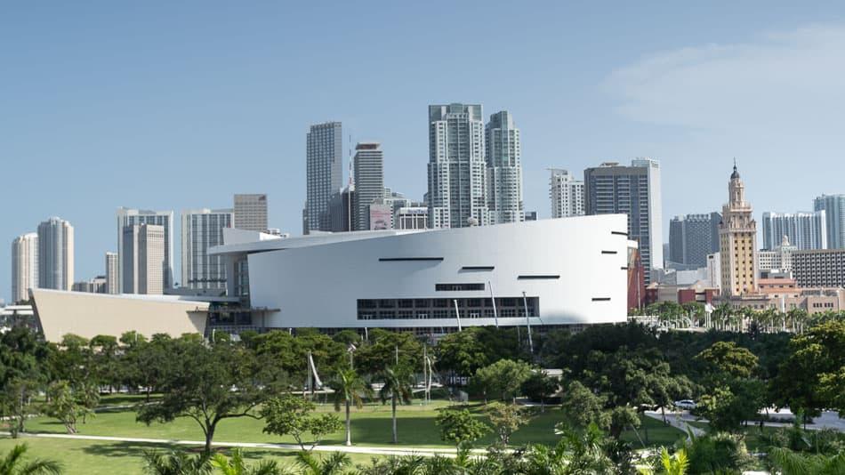 Vista do último andar do Frost Museum em Miami