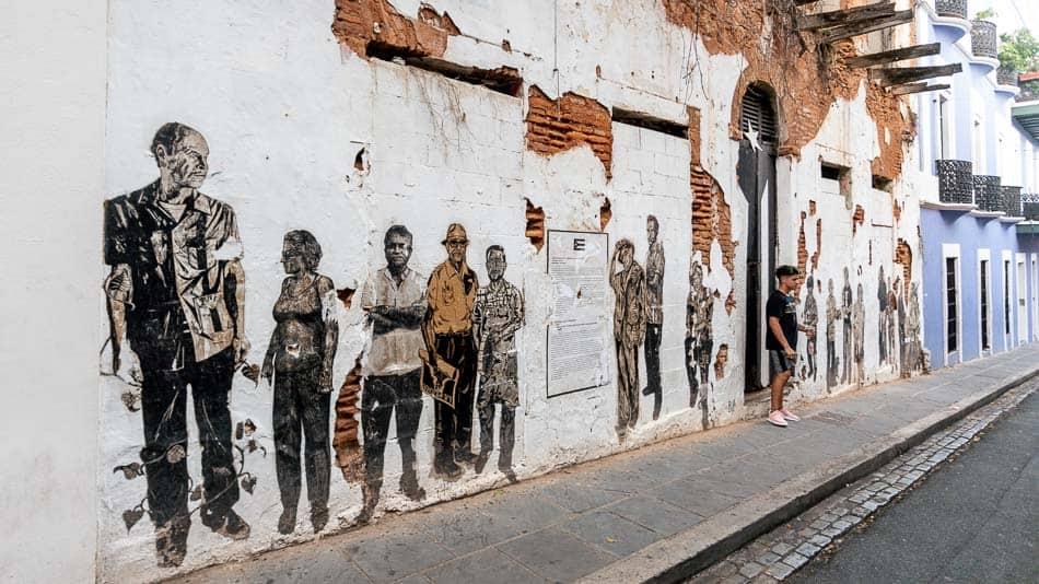 Arte de rua em Old San Juan, Porto Rico