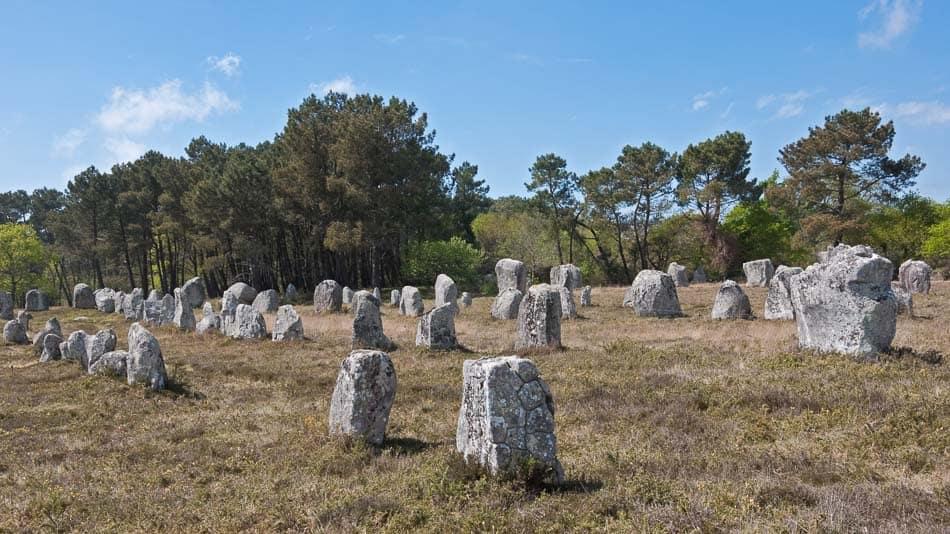 As pedras de Carnac na França