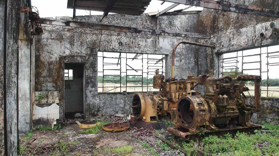 Interior da Casa de Máquinas na Base Aérea do Amapá