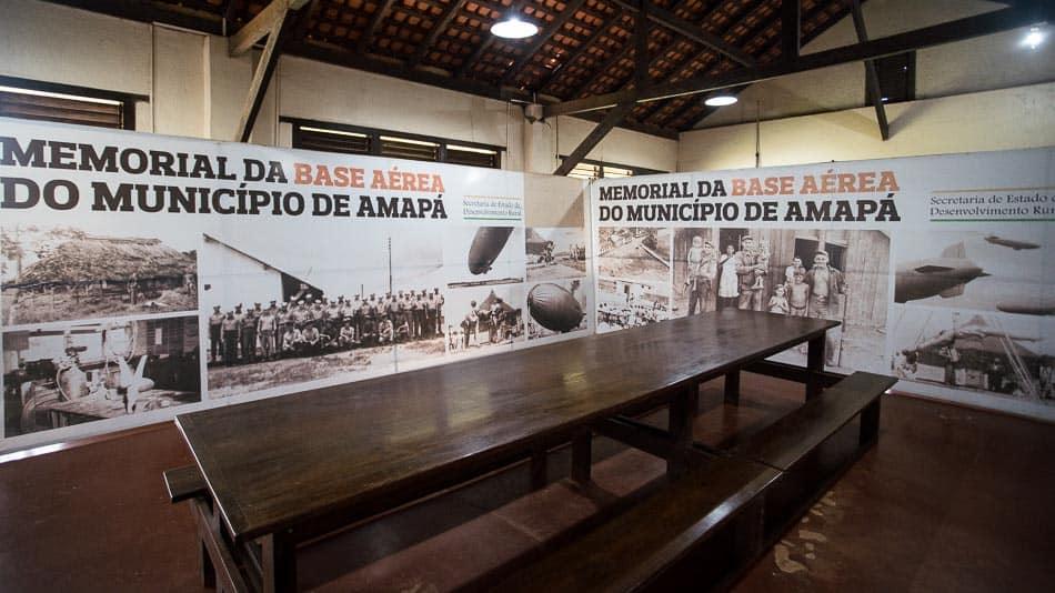 Interior do Museu na Base Aérea do Amapá