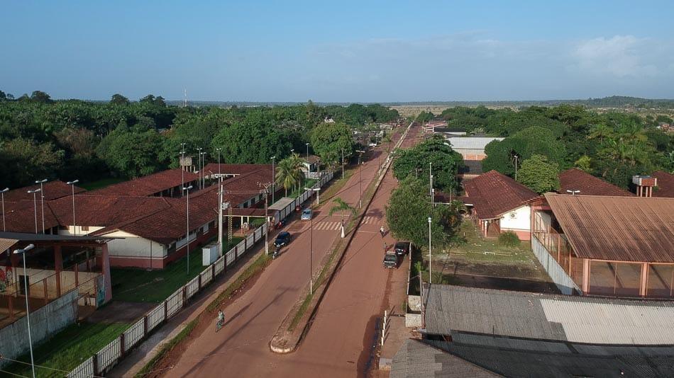 Vista aérea de Calçoene, no Amapá
