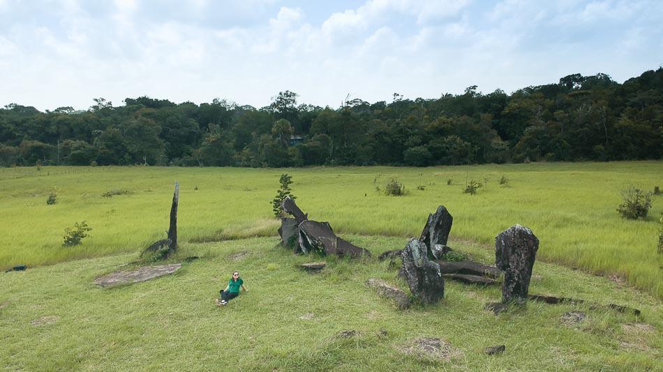 Vista aérea do Stonehenge do Amapá