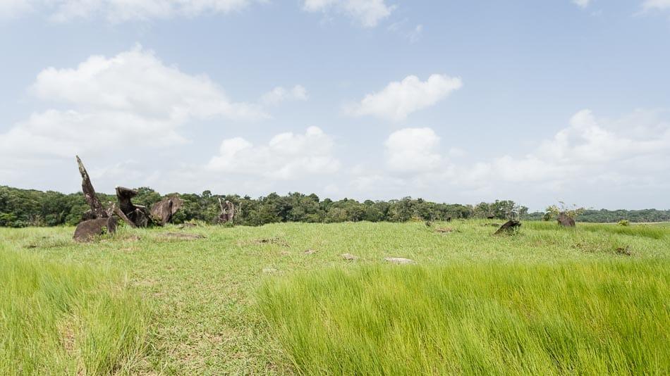 Chegada no Stonehenge do Amapá