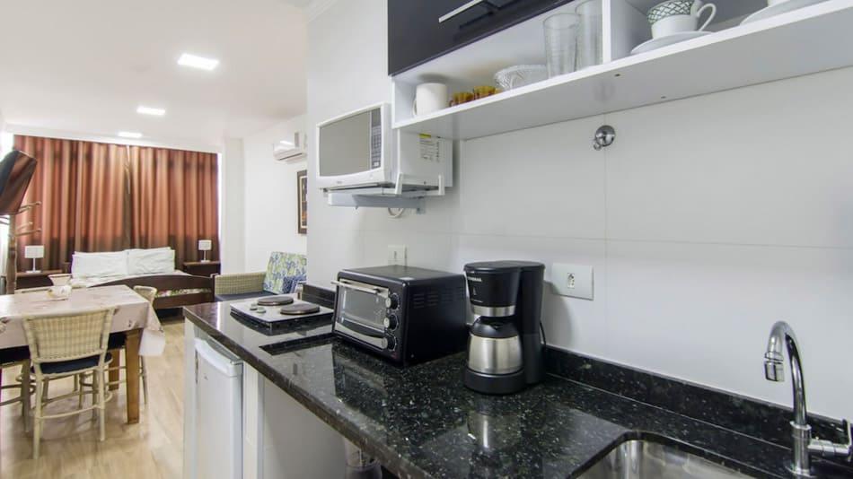 Airbnb no Guarujá: flat em Pitangueiras