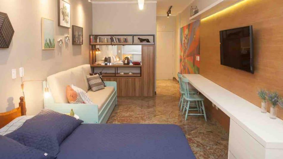 Airbnb no Guarujá: flat reformado na Praia de Pitangueiras