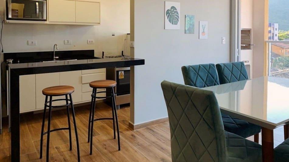 Apartamento de 2 quartos para alugar no Airbnb no Centro de Ubatuba