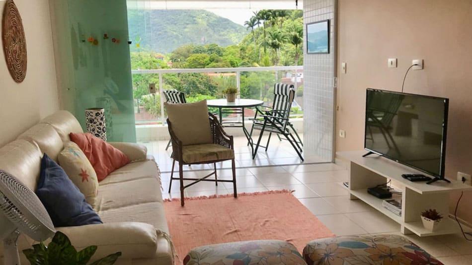 Apartamento para alugar no Airbnb em Ubatuba na Praia da Enseada
