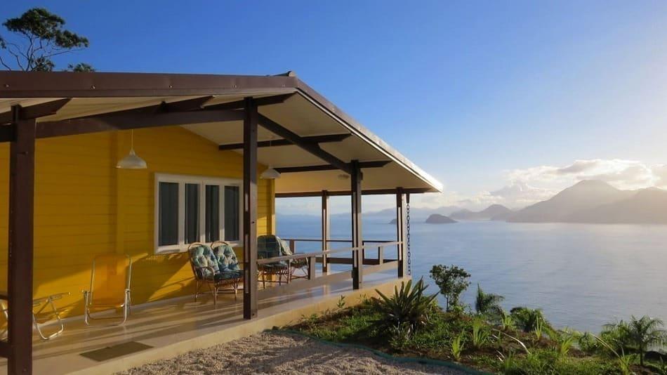 Chalé com vista para alugar no Airbnb em Ubatuba na Praia da Almada