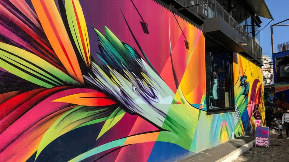 Graffiti do Digital Orgânico no Beco do Batman em SP
