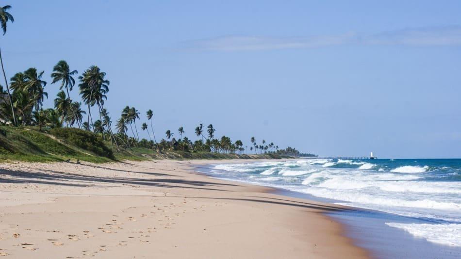 Litoral Norte da Bahia: Praia de Arembepe