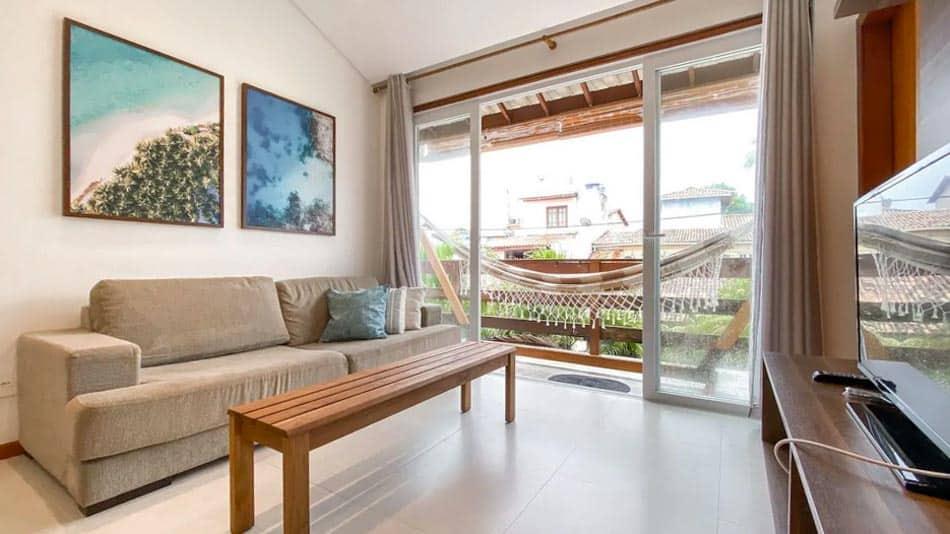 Apartamento para aluguel no Airbnb na Praia do Forte