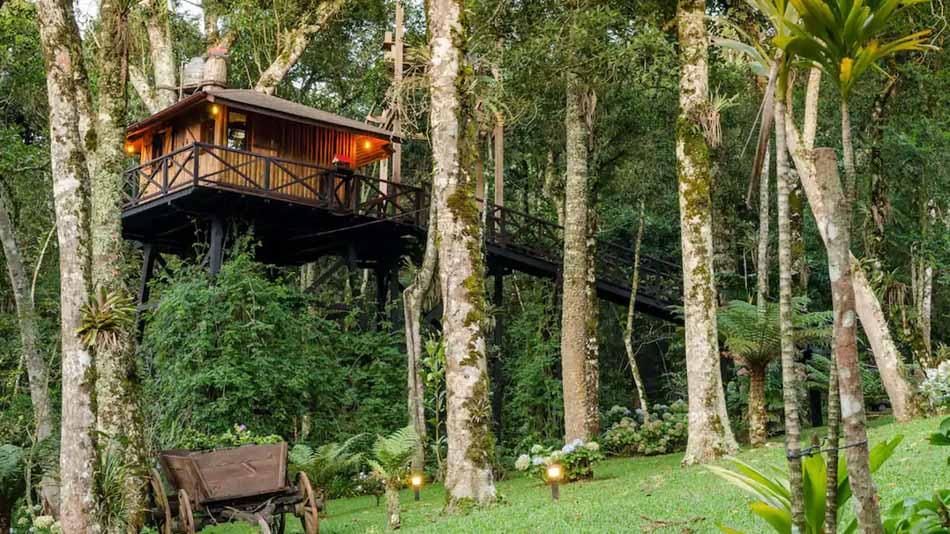 Casa da árvore na montanha para alugar no Airbnb