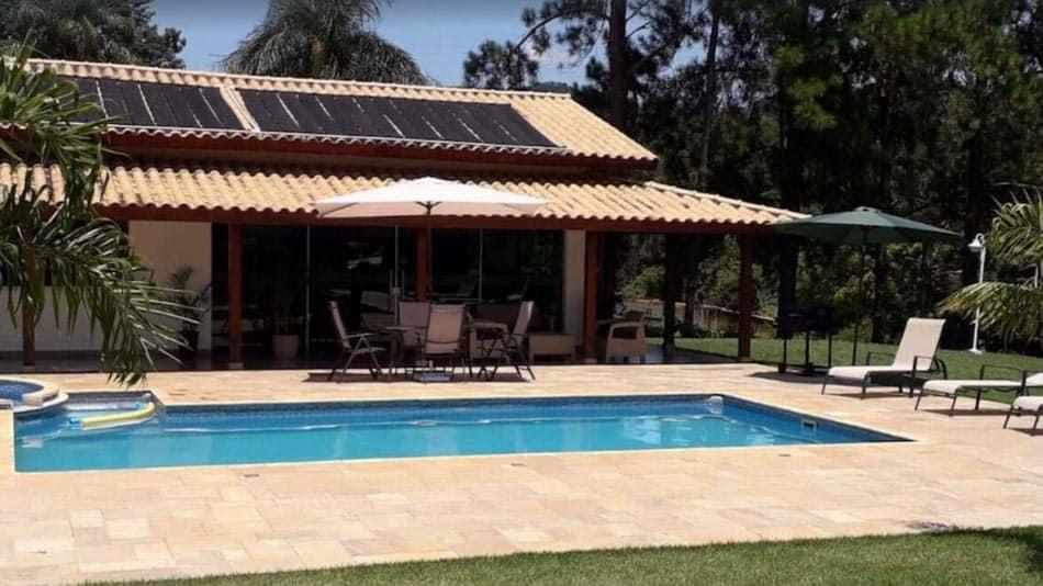 Chácara para alugar perto de SP com piscina