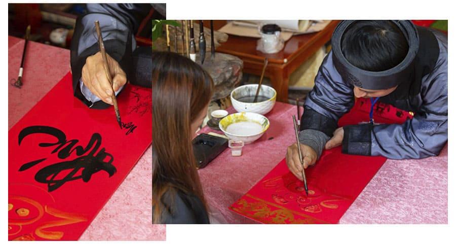 Caligrafia ornamental: tradição do ano novo lunar do Vietnã