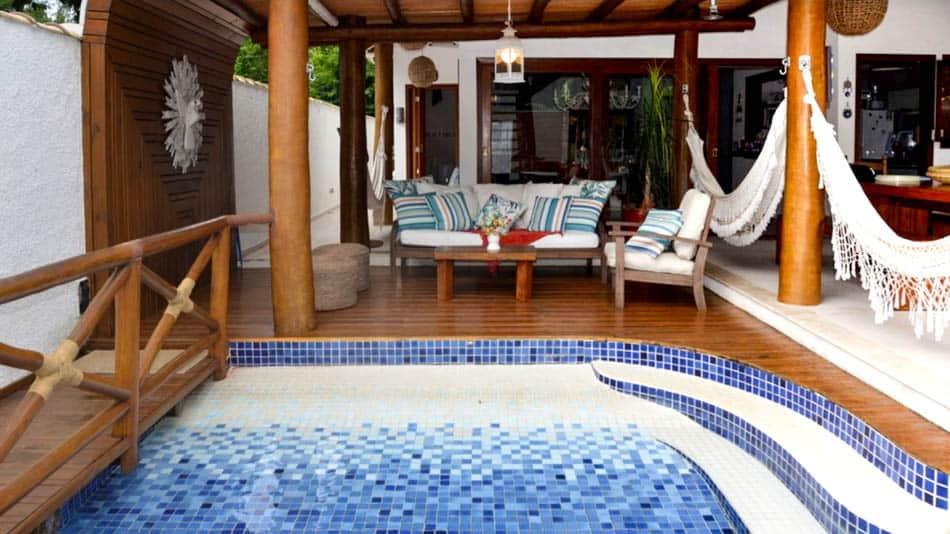 Bela casa para alugar no litoral norte de SP em Toque Toque Grande