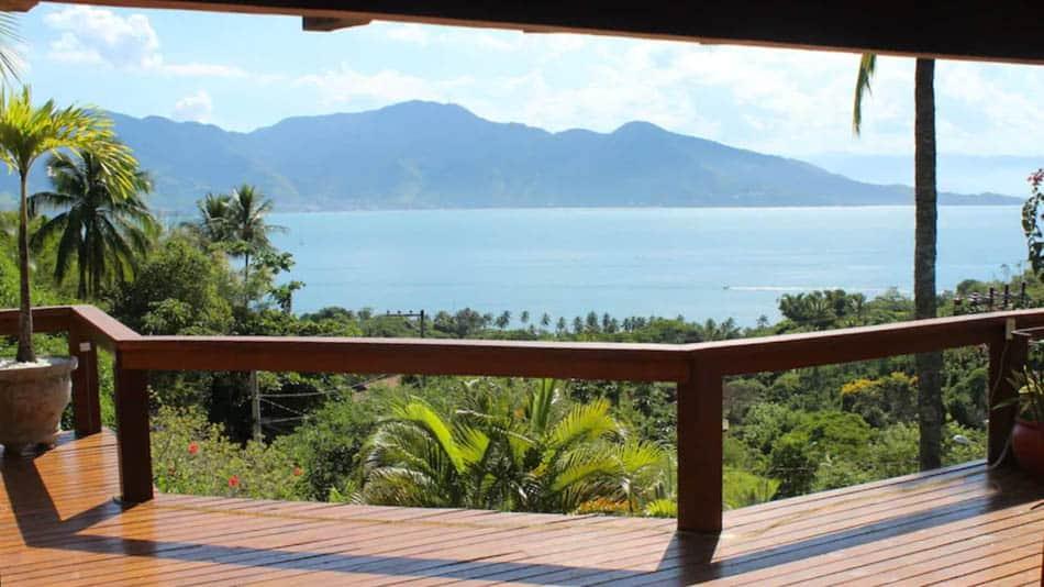 Casa para alugar em Ilhabela em Siriúba com vista