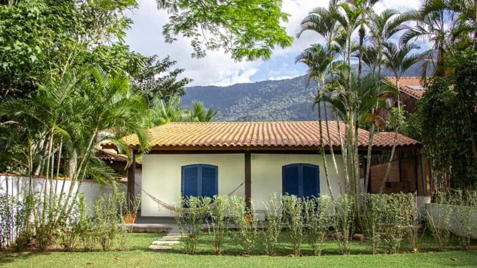 Bela casa para alugar no litoral norte de SP em Guaecá