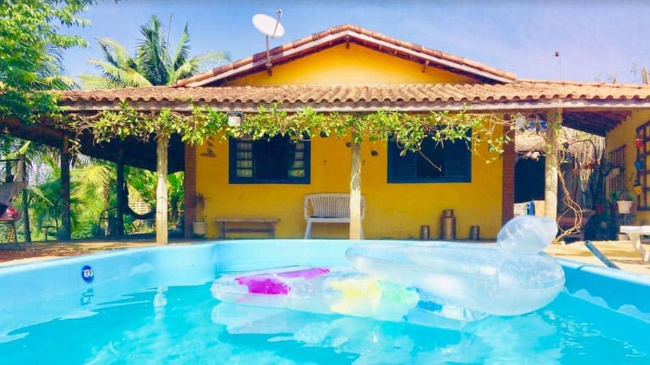 Casa com piscina para alugar em SFX
