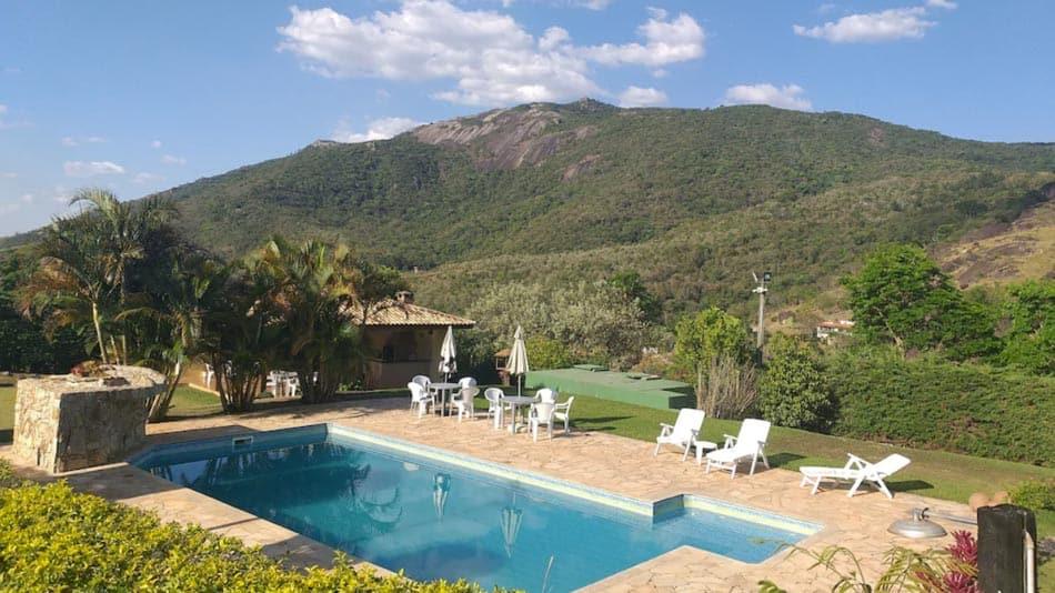 Casa para alugar em Atibaia com vista para a Pedra Grande