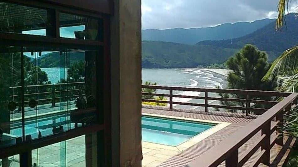 Casa com vista para alugar no litoral norte de SP